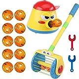 : Juego de andador eléctrico de empuje y giro con pala, lanzador de bolas, juguete lanzador de rompecabezas para niños, juguetes para niños, juguetes para niños pequeños, dibujo para piano (Set)