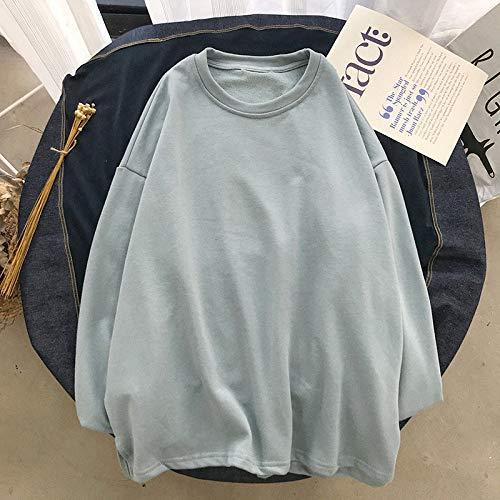 T Shirts Manches Longues,Les Hommes De Couleur Pure Style Hong Kong Casual Col Rond Bleu Sauvage,Tee Shirt De Sport Quick-Drying Respirant Vêtements D'Affaires Chandail Tricoté Veste Stretch Vêtem