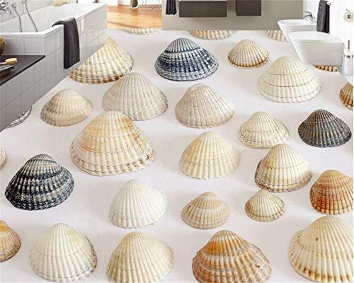 Geavanceerd materiaal PVC 3D wallpaper mooi schilderij 3D-vloerbedekking schilderij droomstrandzand visschaal zelfklevend PVC 300cm(L)x210cm(W)