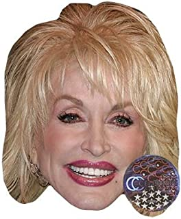 Dolly Parton Celebrity Mask, Card Face and Fancy Dress Mask