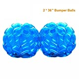PACKGOUT Bumper Balls, Inflatable Body Bubble Ball Sumo Bumper Bopper Toys for Kids & Adults 36' - 2 Balls Included