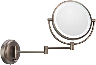 3X Bathroom Vanity Magnifying Mirror, Makeup Round Wall Mounted Mirror 8 Inch Two Sided Cosmetic Mirror, Rotatable, Extendable Arm for Bedroom