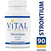 Vital Nutrients - Strontium (Citrate) 227 mg - Bone Support - 90 Capsules
