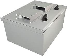 Altelix 16x12x8 FRP Vented Fiberglass NEMA Box Weatherproof Enclosure with Hinged Lid & Quarter-Turn Latches