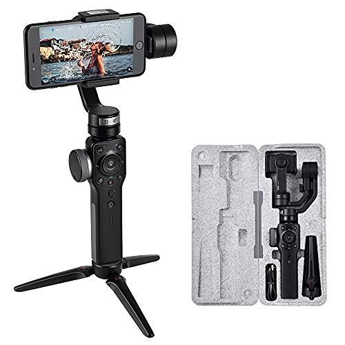 Zhiyun Smooth 4 3-Axis Handheld Gimbal Stabilizer Steady Shooting Video Youtube Vlog con Modo Deportivo Control de Aplicación para Teléfono 11 Pro/XR/XS/XS MAX Galaxy S9 Plus /S9 /S8 Huawei Gopro