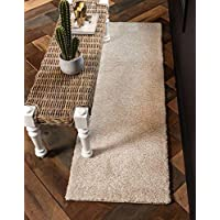 Unique Loom Solo Collection Solid Plush Kids Ivory Runner Rug (2' 2 x 13' 0)