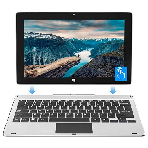 Jumper EZpad 6s Pro 11.6 Inch Windows 10 Laptop 2in1 Touchscreen Tablet PC Thin Light Detachable Keyboard Laptop, Intel Quad Core CPU 6GB RAM 128GB eMMC Supports up to 128GB TF Card Expansion