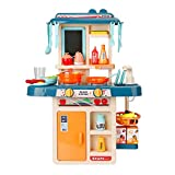 LWQ Cocinita de Juguete,Juguete de Cocina Set,Children's Play House Kitchen Toys, Cooking Toys Can be Sprayed, Real Water-Play House Kitchen 42 Accessories Set