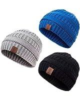 REDESS Baby Kids Winter Warm Fleece Lined Hats, Infant Toddler Children Beanie Knit Cap Girls Boys …