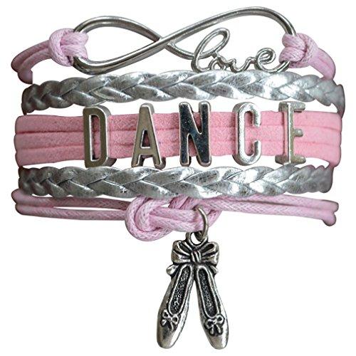 Infinity Collection Dance Bracelet- Dance Jewelry - Pink Ballet Shoe Dance Bracelet for Dance Recitals