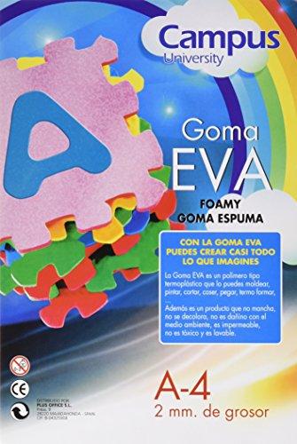 Campus University EVA-A4-SKN - Goma, 2 mm, 10 unidades, 210 x 297 mm, carne