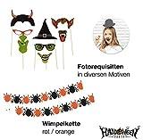 Halloween Deko Dekoration Grusel Set mit über 30 Teilen für Haus, Tisch & Garten - 4