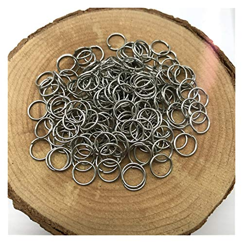Shop-PEJ Jewelry Accessories Metal Open Jump Rings Split Rings Connectors For Jewelry Making DIY Jewelry Findings for Jewelry and Crafts Making (Color : Alloy, Size : 10mm 100pcs)