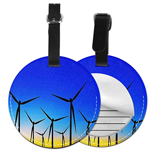 Luggage Tags Eco Energy Wind Farm Sustainable World Suitcase Luggage Tags Business Card Holder Travel Id Bag Tag
