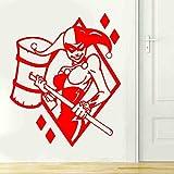 zqyjhkou Harley Quinn Wand Vinyl Aufkleber Held Aufkleber s Interior Home Decoration Removable...
