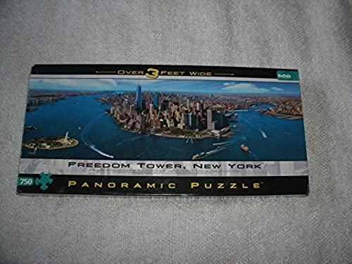 Freedom Tower, New York, Panoramic 750-piece Puzzle Over Three Feet Wide by Buffalo Games