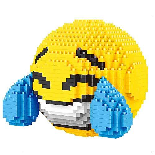Linda Caricatura de Micro Diamantes Bloques Emoji pequeña Cara Amarilla Bloque Nano se Puede Instalar Ladrillos niños Juguetes educativos Regalos,D