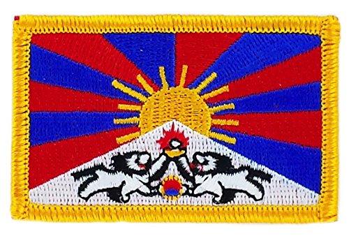 Opnaaier, geborduurd, vlag Tibetaanse vlag, om op te strijken, badge, wapen