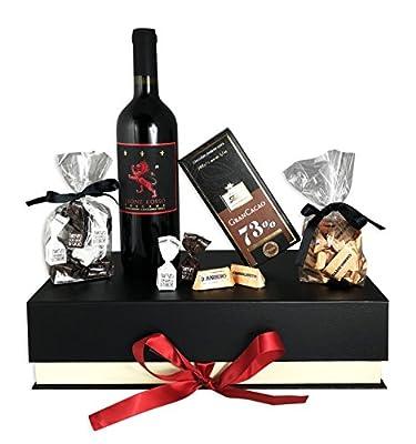 Edles Geschenkset Purer Genuss mit Premium-Toskana Rotwein und italienischen Schokoladenspezialitäten