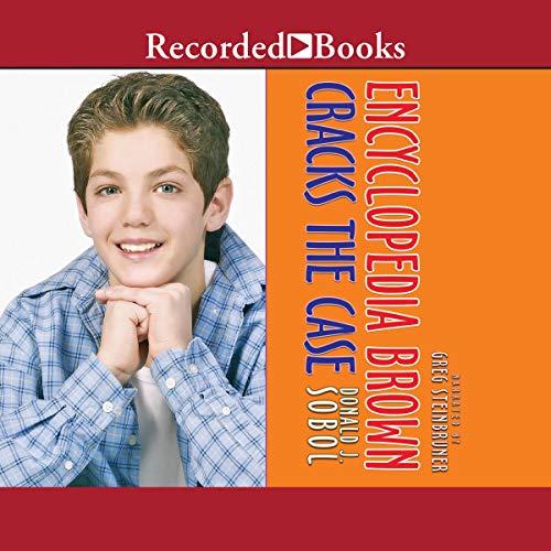 Encyclopedia Brown Cracks the Case audiobook cover art