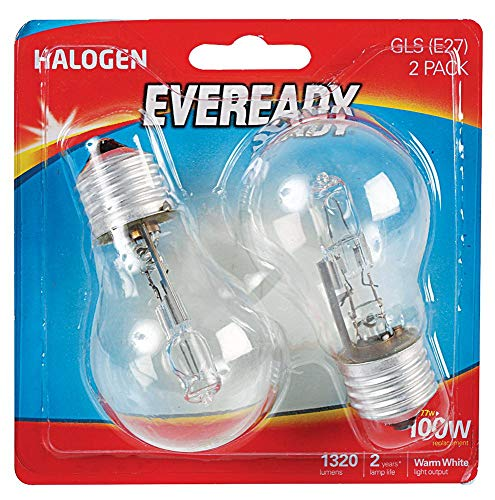 Eveready Eco GLS 77 W (100 W) E27 Blister 2, Halogenlampen, Beleuchtung und Blinker
