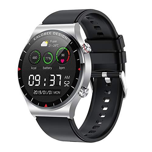 BNMY Smartwatch Llamada Bluetooth Pantalla De 1,3 Pulgadas Reloj Inteligente Impermeable IP68 con Pulsómetros para Mujer Hombre, Pulsera De Actividad Inteligente,B