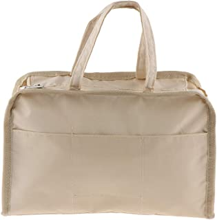 Lovoski Womens Large Makeup Travel Insert Organizer Bag In Bag Multi-Pocket Handbag