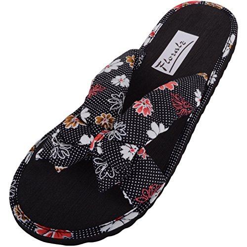 Absolute Footwear Damen-Sandalen für Urlaub, Strand, Pool, Flip-Flops, Pantoletten, Schwarz - Schwarz - Größe: 37 EU