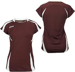 قميص رياضي للسيدات من اسيكس خمري/أبيض M