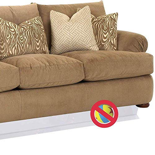Vapaa Under Couch Toy Blocker Stop Toys from Going Under The Sofa, Furniture, Tables (Clear, 10)