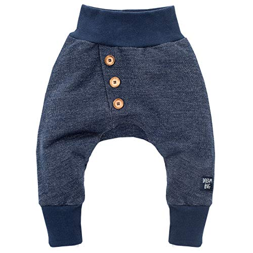 Pinokio - Big Dream - Baby Pumphose/Hose / Haremshose/Jogginghose Schlupfhose Babyhose, 100% Baumwolle, Jungen, Dunkelblau (98)