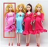 Echte Schwangere Puppe'Have A Baby in Ihrem Bauch - DIY braunes Haar für Barbie-Puppen,...