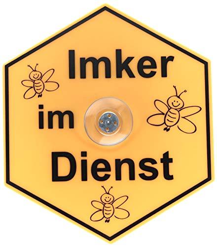 Germerott Bienentechnik Saugnapfschild Imker im Dienst ideal für das Auto