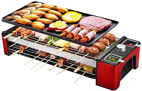 Tabella Elettrica Top Grill Barbecue Caldo Piastra Domestici Barbecue Pot Senza Fumo Antiaderente Teppanyaki Grill Pan (Size : 43X22X12Cm)