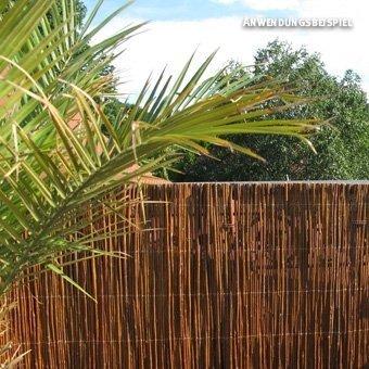Videx-Sichtschutzmatte Weide, dunkel Provence, 150 x 300cm