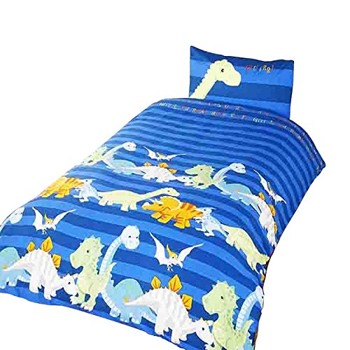 Dinosaurs Blue Duvet Cover Set, Single