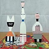 JLXQL Esculturas de Pared Artesanía de Madera Abstracta Modelo de Arte Figuras de Personas 3 Unids/Set Simple Hogar Decorativo Juguetes para bebés Regalo para niños-BC