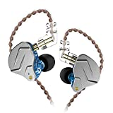 KZ ZSN Pro Dynamic Hybrid Dual Driver in Ear Earphones Detachable Tangle-Free Cable Musicians in-Ear Earbuds Headphones (Blue Without Mic)