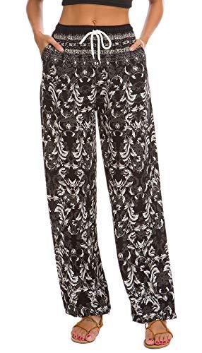 EXCHIC Mujer Impreso Pantalones Boho Haram Casual Hippie Pantalones (#21, L)
