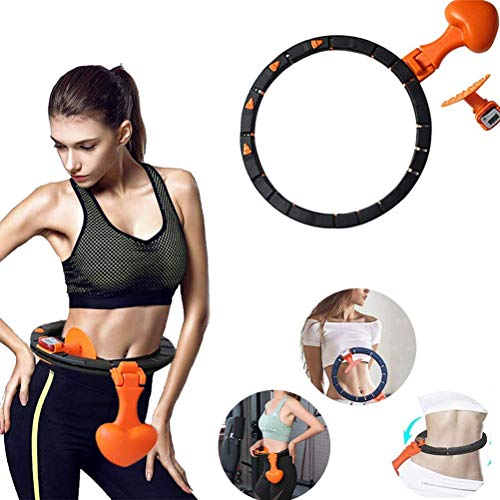 Best Price CHAIJY Removable Counting Smart Hula Hoop, Non Dropping Auto-Spinning Hoop with Detachabl...