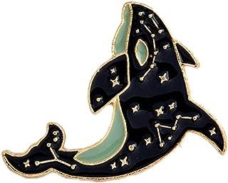 Jojckmen Fashion Artist Dolphin Eye Film Badge Drop Oil Lapel Pin Cute Cartoon Brooches Pins Women Girl Jewelry