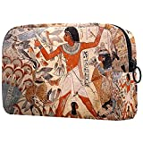 Bolsa de Maquillaje compacta Neceser de Viaje portátil para Bolsas de cosméticos,Pintura egipcia Antigua