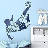 wZUN Pegatinas de Pared Jugadores de fútbol Que Hacen Amantes del fútbol de Chile Decoración de la habitación Calcomanías de niños Adolescentes 85x118cm