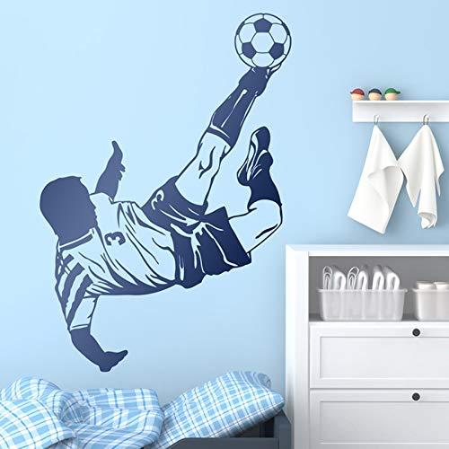 wZUN Adhesivos de Pared Jugadores de fútbol Que Hacen Amantes del fútbol de Chile Decoración de la habitación Calcomanías de niños Adolescentes 68x94cm