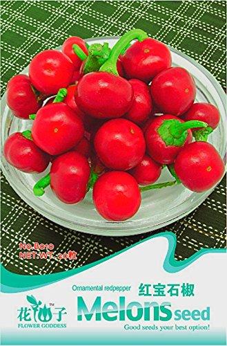 Szechwan Red Round Pickled Hot Chili légumes Graines, emballage d'origine, 20 graines / Paquet B010