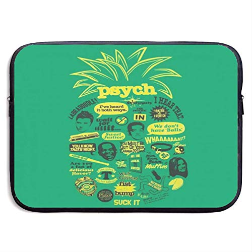 Laptop Case Bag Psych Pineapple Quote 15 Inch Laptop Sleeve Bag Printing Neoprene Carrying Bag