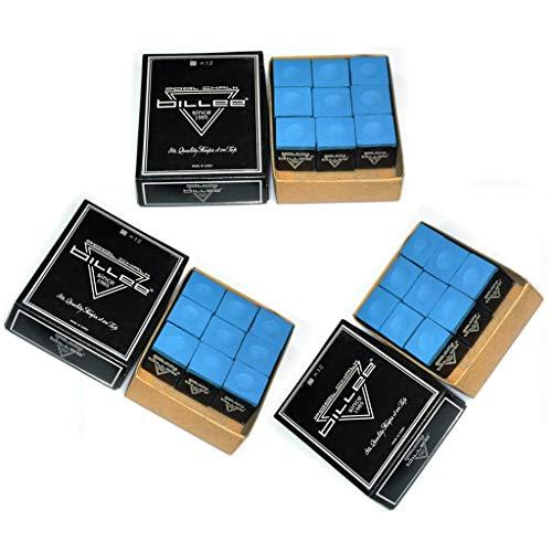 WXS 36 Stks Wereld Beroemde Driehoek Blauw Snooker Zwembad Krijt in 3 Echte Driehoek Dozen, Niet Verkocht Losse