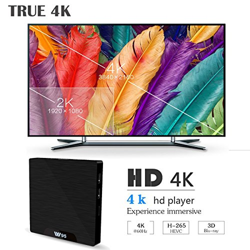 SeeKool 4 K Android 7.1 TV Box 2019 Model T Smart TV Box with 2 G RAM 16 g Rome, amlogic s905 W Quad Core 64 Bits, 4 K Ultra HD, Built-in WiFi, USB poort, HDMI & AV Output Media TV Player