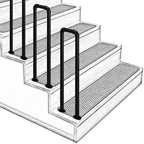 Wandhandlauf Wohnung Drau/ßen Handlaufset direkt zum Treppenhaus oder Kellereingang GJIF Industrie Handl/äufe Treppen Handlauf Gel/änder Au/ßen Innen Schwarz Metall Schmiedeeisen Size : 30cm