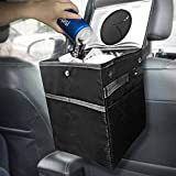 Best Car Trash Can for Litter with 30 Free Liners, Leakproof, Odor Proof, Insulated for Car Cooler, Hanging and Back Seat Car Garbage Bag, Perfect Gift for Family Trip,!